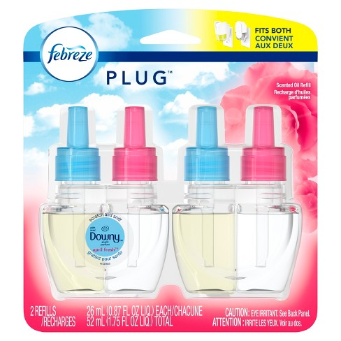 Febreze Plug Air Freshener Refills with Downy April Fresh - 2ct 1.75oz - image 1 of 6