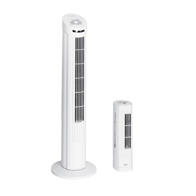 Seville Classics UltraSlimline Tower Fan Combo Pack - White
