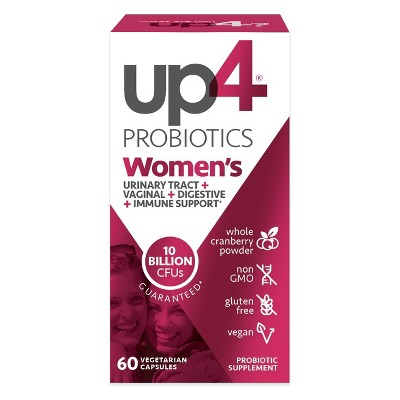 UP4 Women's Probiotic with Organic Vegan Cranberry Capsules - 60ct