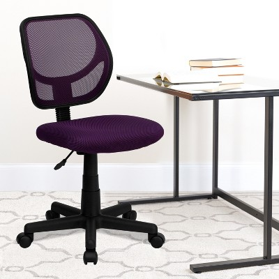 Emma and Oliver Mid-Back Mesh Swivel Task Office Chair with Curved Square Back
