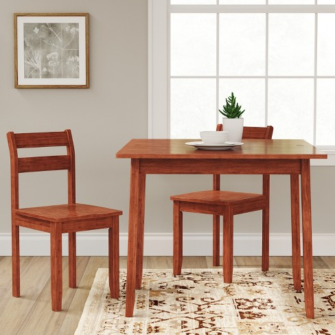 3pc Expandable Dining Set With Storage Chestnut Threshold