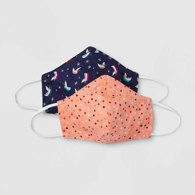 Kids' 2pk Holiday Cloth Face Masks – Cat & Jack™ One Size