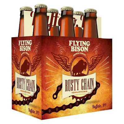 Flying Bison Rusty Chain Vienna-Style Beer - 6pk/12 fl oz Bottles