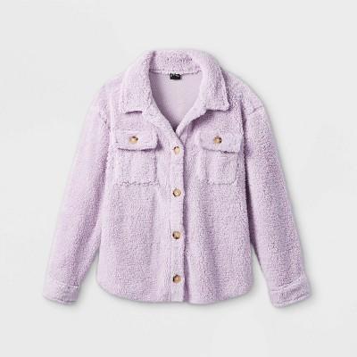 Girls' Fleece Shacket - art class™