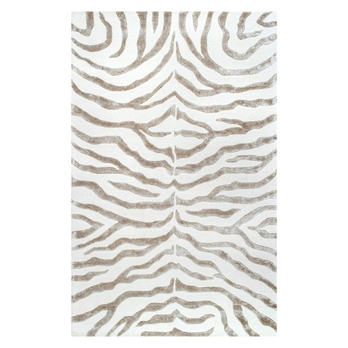 nuLOOM 100% Wool Radiant Zebra Area Rug - image 1 of 2