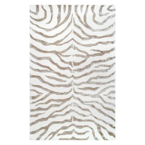 nuLOOM 100% Wool Radiant Zebra Area Rug - image 1 of 2