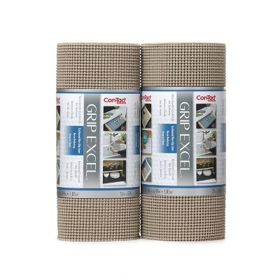 """Con-Tact Grip Excel 2pk 12""""x20' Taupe"""