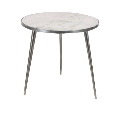 Contemporary Marble Accent Table Gray - Olivia & May