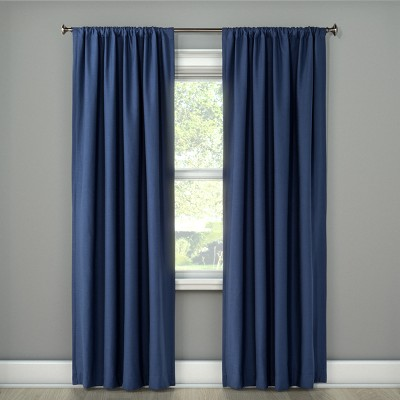 """95""""x50"""" Henna Blackout Curtain Panel Blue - Project 62™"""