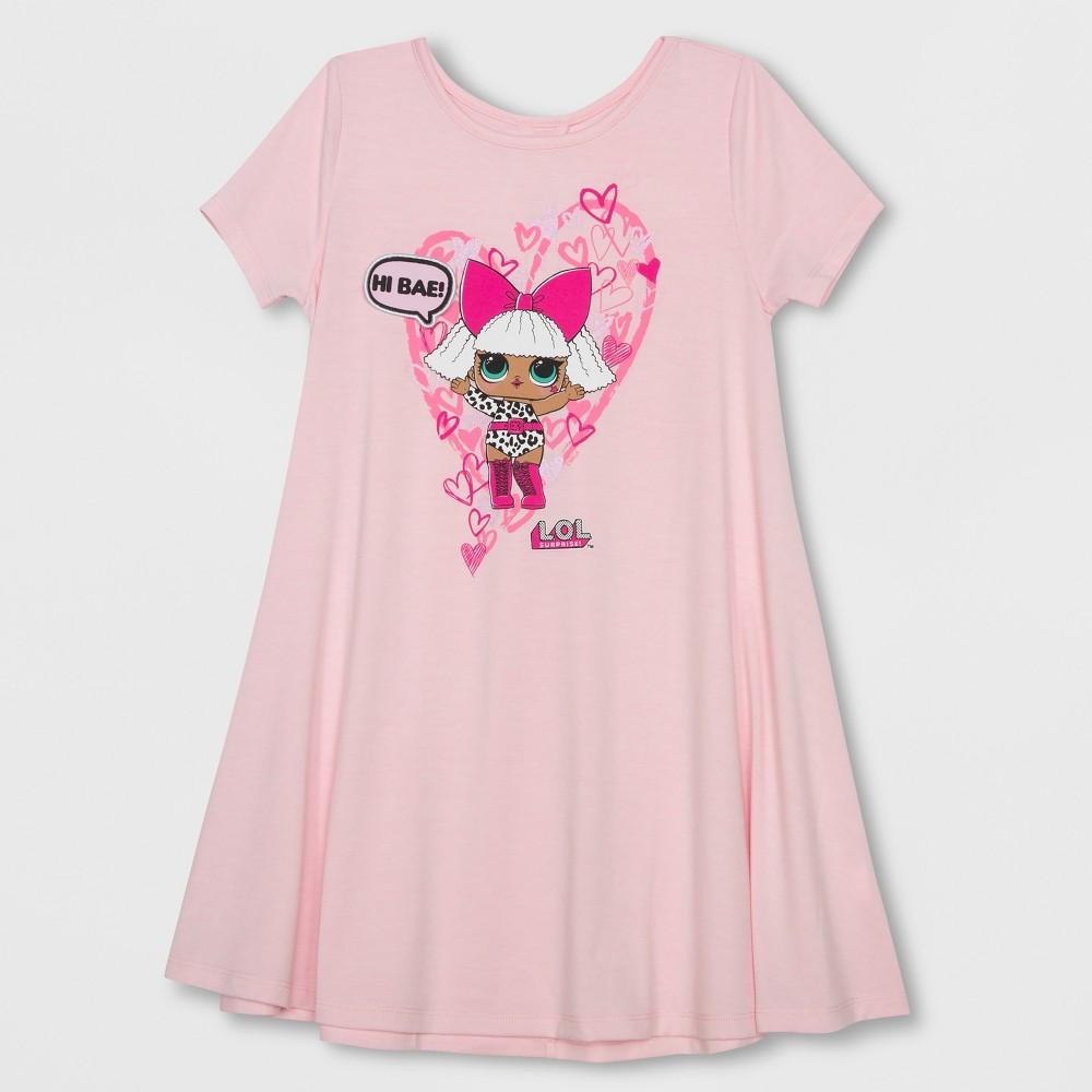 Plus Size Girls' L.O.L. Surprise! Valentine's Day Dress - Light Pink Xxl Plus