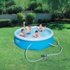 Bestway 8ft x 26in Fast Set Inflatable Above Ground Swimming Pool w/ Filter Pump - image 3 of 4