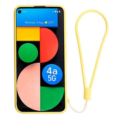 Insten Liquid Silicone Case For Google Pixel 4a 5G (2020)(NOT For Pixel 4a) Soft Microfiber Full Body Protective Cover