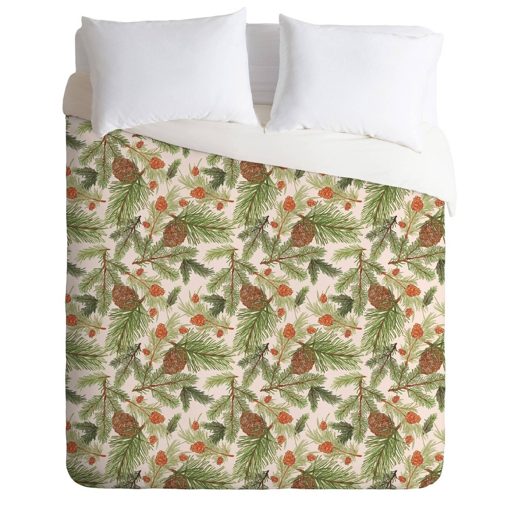 Deny Designs Dash And Ash King Cabin In The Woods Duvet Cover Set Green