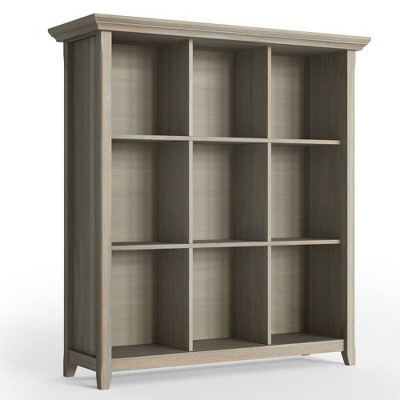 "48""x44"" Normandy 9 Cube Bookcase and Storage Unit Distressed Gray - Wyndenhall"