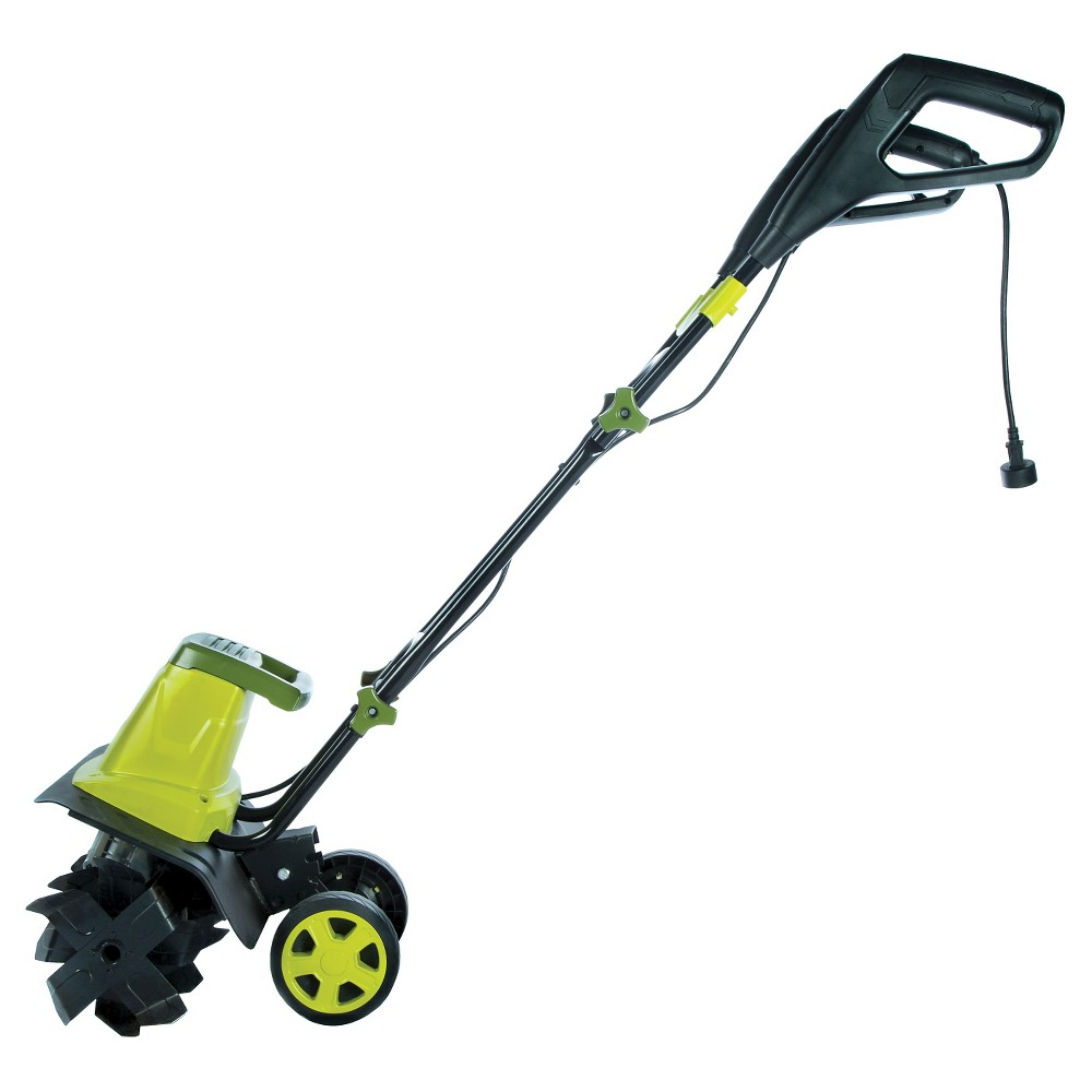 Sun Joe 16 Inch 12 Amp Electric Garden Tiller/Cultivator, Green