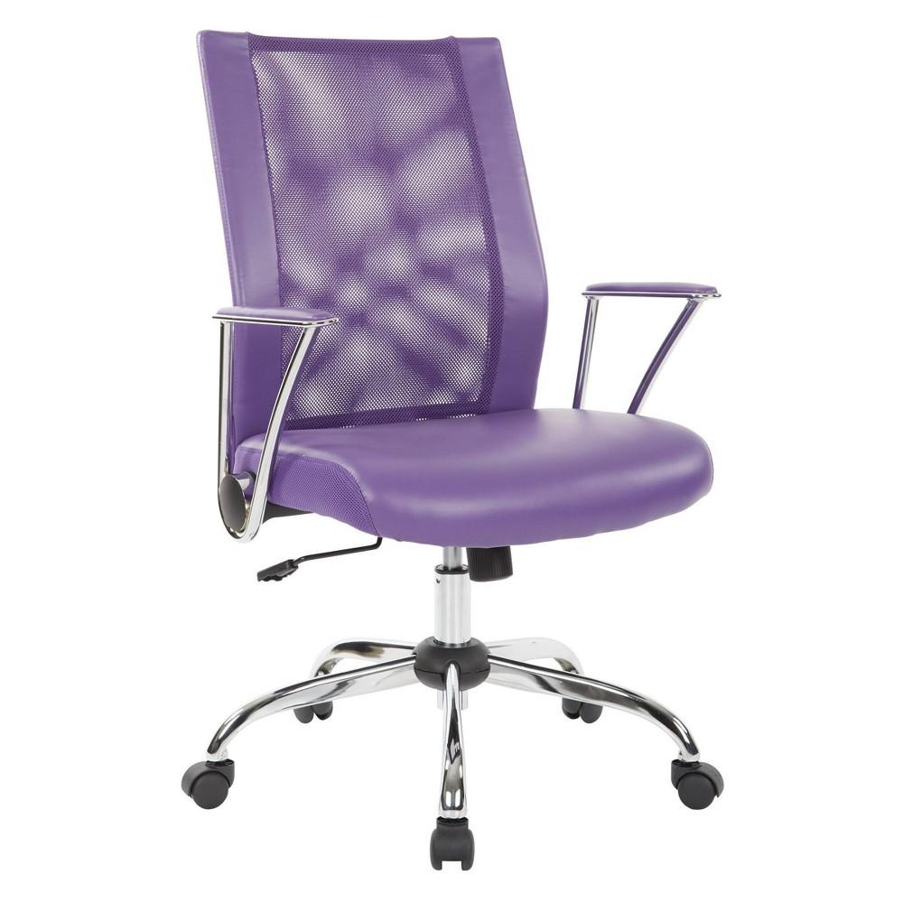 Bridgeway Office Chair Purple Osp Home Furnishings