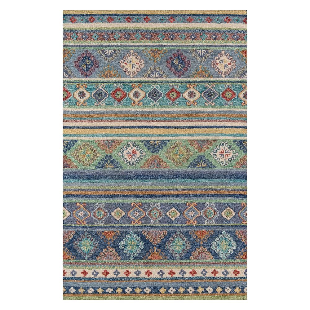 8'X11' Fair Isle Design Tufted Area Rug Blue - Momeni