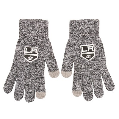 NHL Los Angeles Kings Knit Gloves - Gray