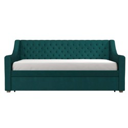 Twin Nolita Velvet Upholstered Daybed and Trundle Green - CosmoLiving by Cosmopolitan