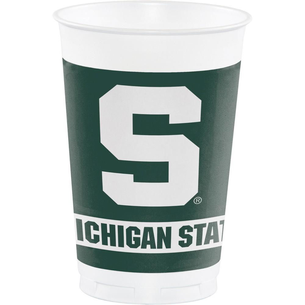 8ct Michigan State Spartans University Plastic Cups