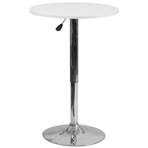 Flash Furniture 23.75'' Round Adjustable Height White Wood Table (Adjustable Range 26.25'' - 35.75'') - image 1 of 1