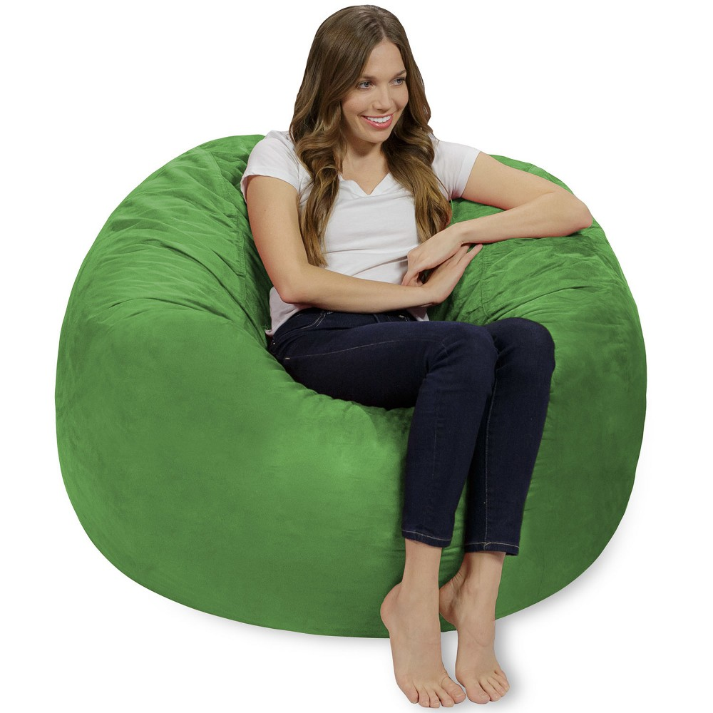 Image of 4 ft Microsuede Sack Lime - Relax Sack