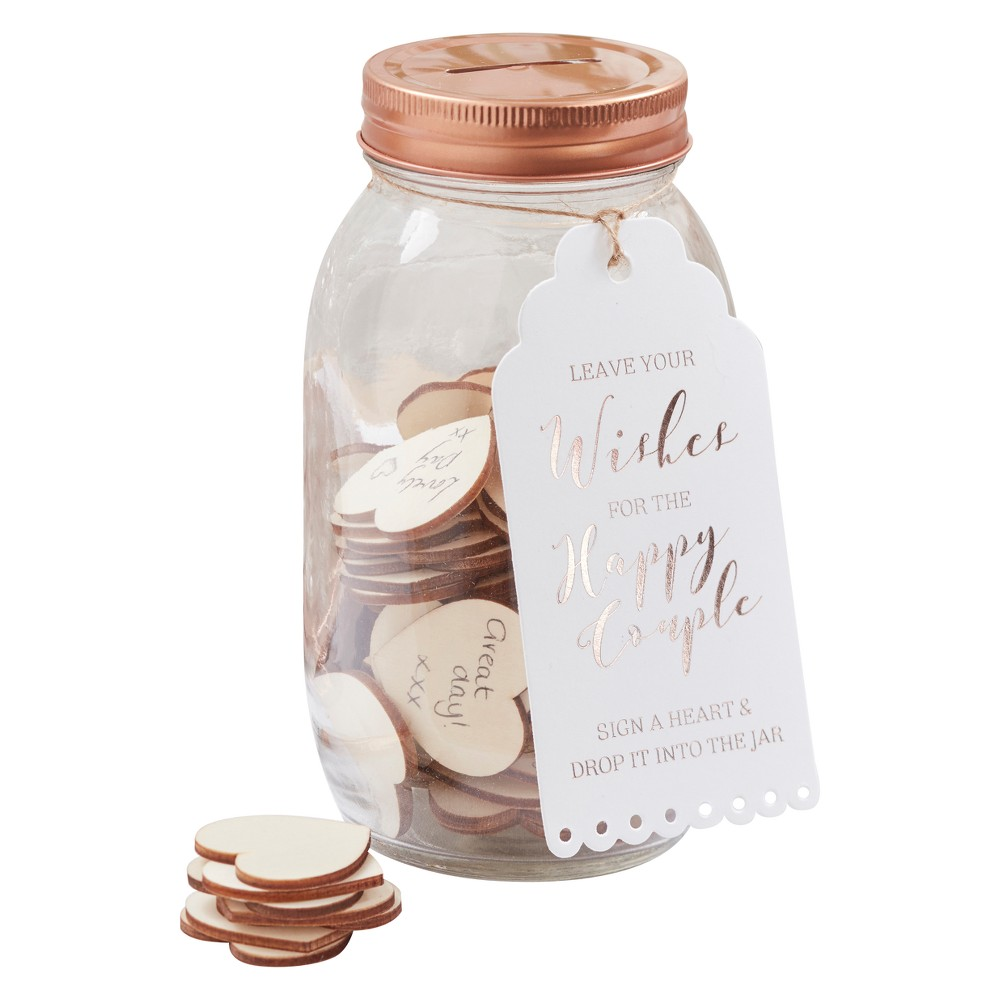Ginger Ray Wishing Jar Guest Book Beautiful Botanics, Clear