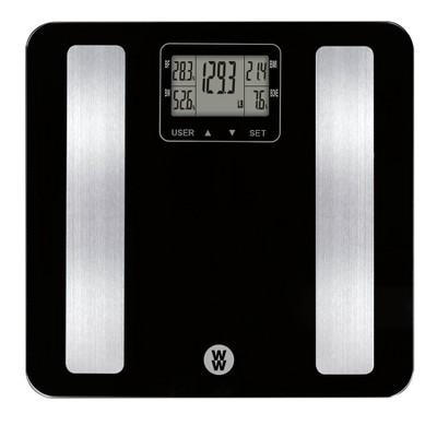 Glass Body Analysis Scale Black - Weight Watchers