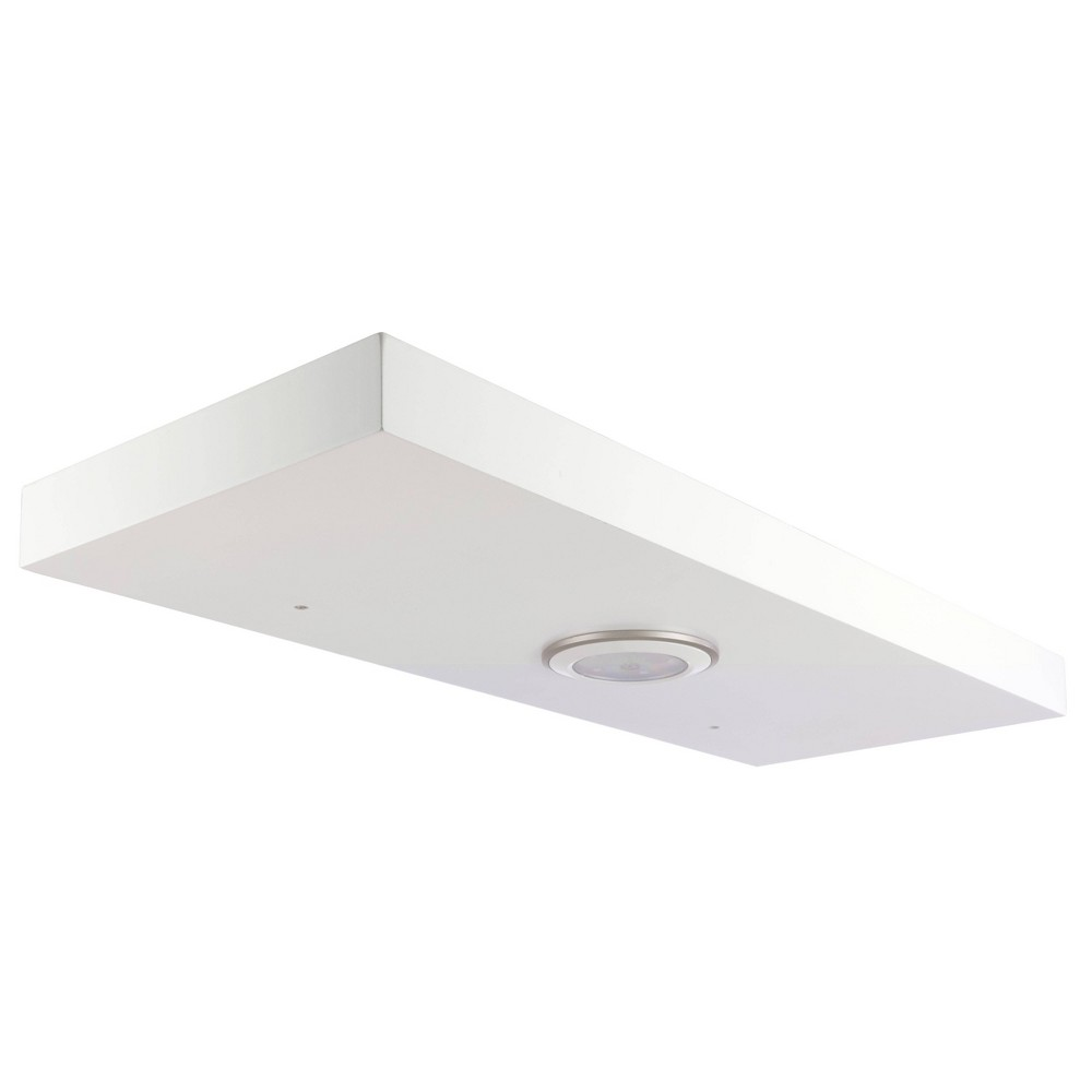 "Image of ""23.6"""" x 1.5"""" Stockholm Aberg Floating Shelf with LED Light White - Kiera Grace"""