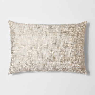 Metallic Lumbar Throw Pillow Gold - Threshold™