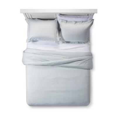 Gray Mint Damask Stripe Comforter Set (King)- Fieldcrest®