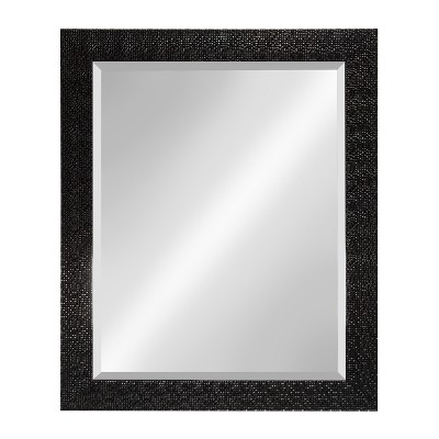 Kate & Laurel 27 x33  Coolidge Framed Beveled Wall Vanity Mirror Black