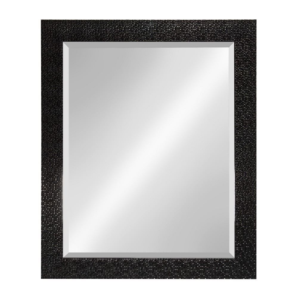 "Image of ""Kate & Laurel 27""""x33"""" Coolidge Framed Beveled Wall Vanity Mirror Black"""
