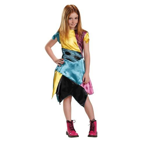 Girls Nightmare Before Christmas Sally Classic Costume - image 1 of 1