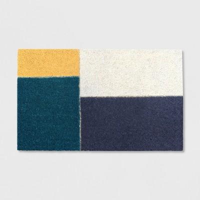 18  x 30  Color Block Outdoor Doormat Cool - Project 62™