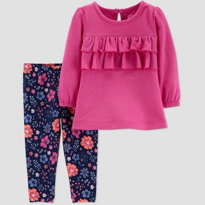 Baby Girls' 2pc Floral Set - Just One You® made by carter's Purple 6M