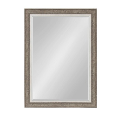 """30"""" x 42"""" Woodway Framed Wall Mirror Gray - Kate and Laurel"""