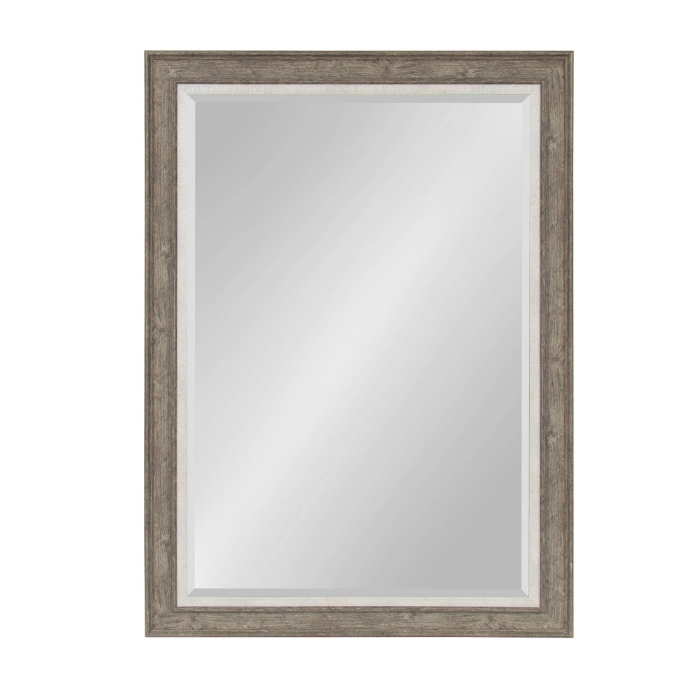 """Image of """"29.5""""""""x41.5"""""""" Woodway Framed Wall Mirror Gray - Kate and Laurel"""""""
