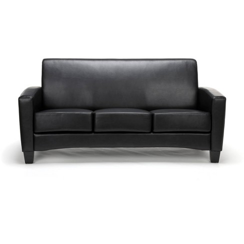 Traditional Reception Sofa Black Ofm