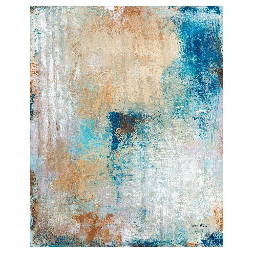 Winter Solace Unframed Wall Canvas Art - (24X30), Multi-Colored