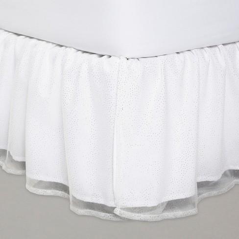 Glitter Dot Tulle Bedskirt - Pillowfort™ - image 1 of 2