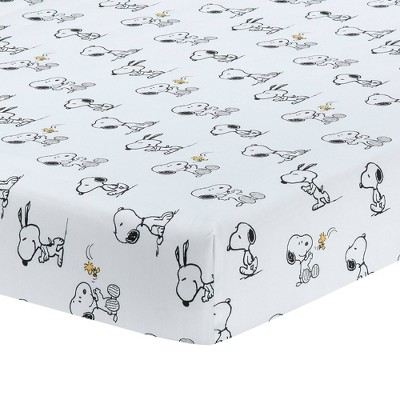 Lambs & Ivy Classic Snoopy Fitted Crib Sheet