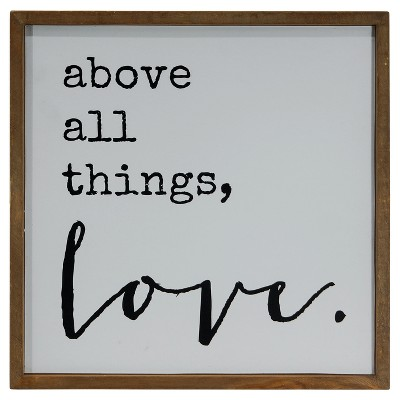 Love Wall Décor White (14 x14 )- VIP Home & Garden
