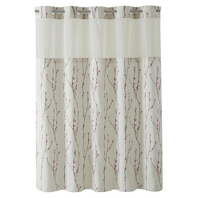 Hookless Cherry Bloom Shower Curtain with Liner Taupe