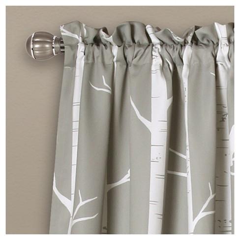 Bird On The Tree Room Darkening Window Curtain Set