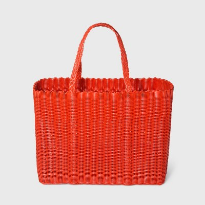 Woven Tote Handbag - Shade & Shore™ Vibrant Orange