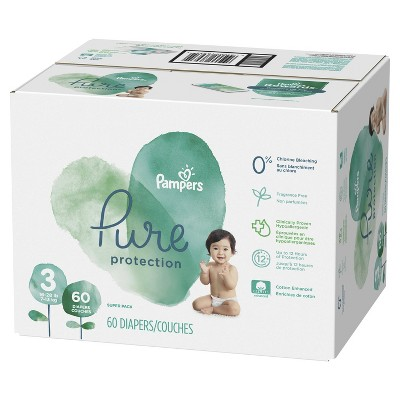 Pampers Pure Protection Diapers Super Pack - Size 3 (60ct)