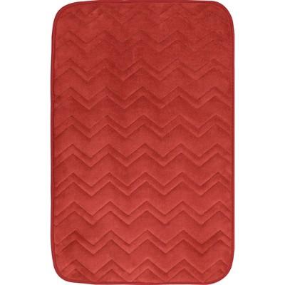 "17""x24"" Indulgence ZigZag Bath Mat Brick - Home Dynamix"