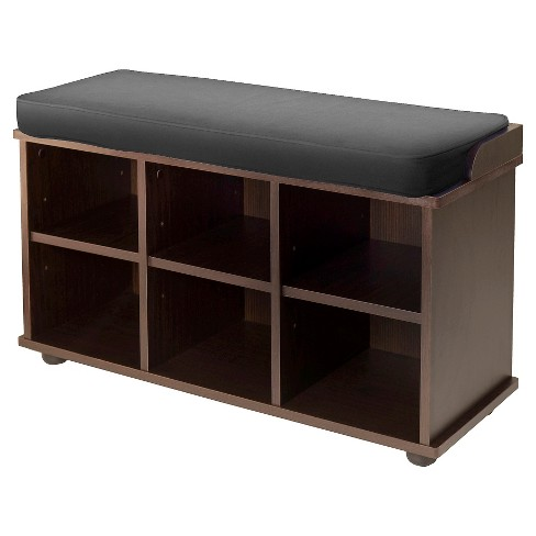 Townsend Entry Bench With Cushion And Storage Espresso - Winsome - image 1 of 3