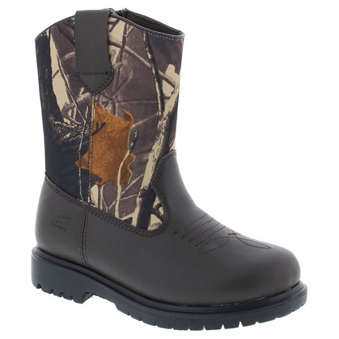 Boys' Deer Stags Tour Water Resistant Pull-on Occupational Boots - Brown - image 1 of 3